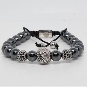 Natural Hematite Gemstone Bracelet